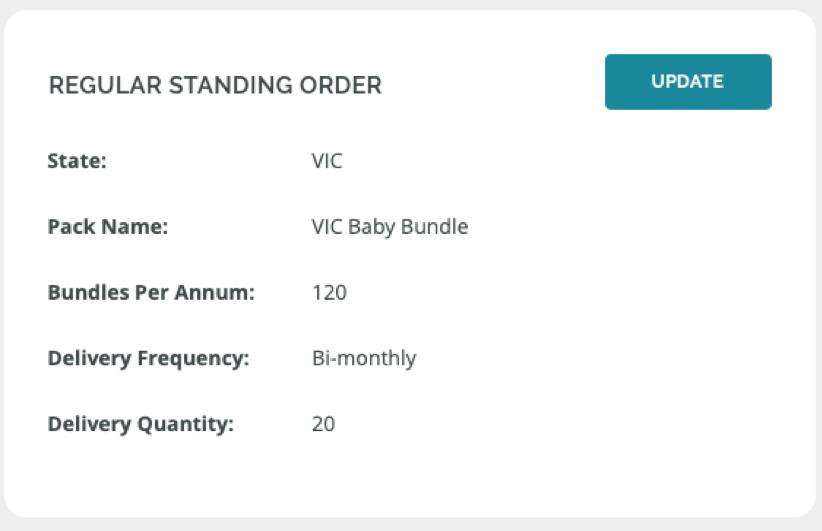 Screenshot - Regular standing order