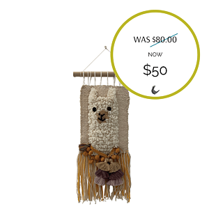 Handmade Alpaca Wall Hanging - Sale