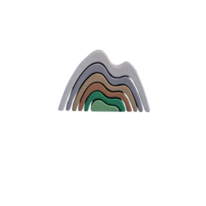 RADUGA GRËZ Wooden Mountain Stacker