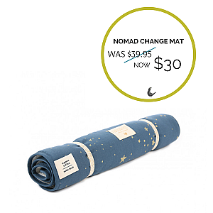 Nomad Changing Pad Gold Stella Blue - Autumn Sale