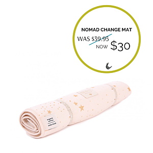 Nomad Changing Pad Gold Stella Pink - Autumn Sale